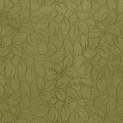 Leaf Upholstery Fabric by Green Leaves Microfiber Upholstery Fabric By The Yard