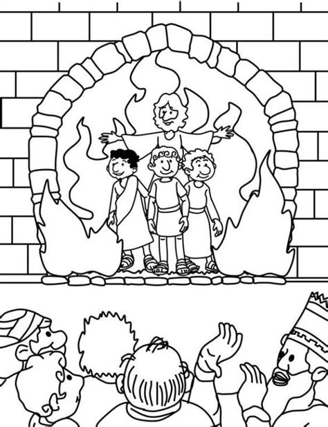 shadrach meshach and abednego coloring page az coloring