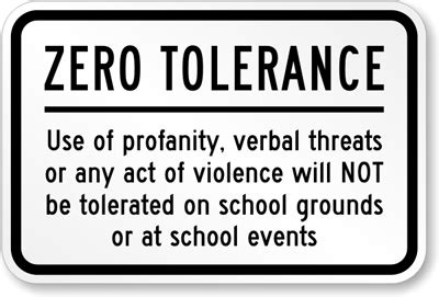 Zero Tolerance For Cyberbullying In School Zero Tolerance Policy In The Workplace Template