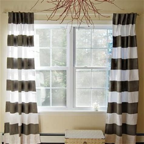 striped drapes window treatments on the budget window treatment