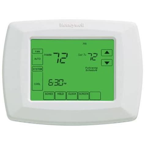 Thermostat Home Depot by 7 Day Universal Touchscreen Programmable Thermostat Rth8500d The Home Depot