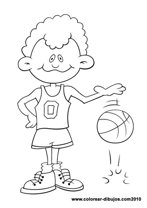imagenes para pintar para niños dibujos de deportes para colorear dibujos de ni 241 o botando