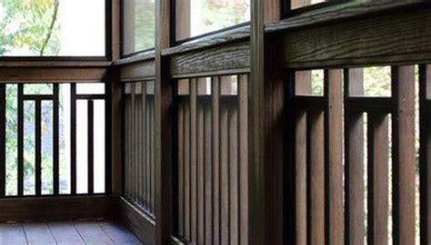 craftsman vertical  wood railing deck railing