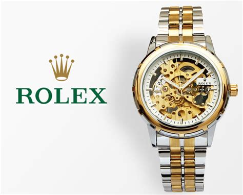Rolex Skeleton Romawi Rantai Silver Black rolex skeleton automatic two tone wrist for