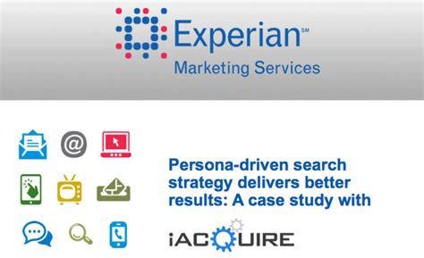Experian Records Persona Driven Search Strategy With Experian Marketing Services Iacquire