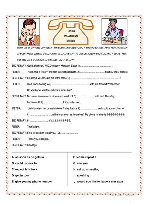 Conversational Elementary 1 phone conversation worksheet free esl printable worksheets made by teachers