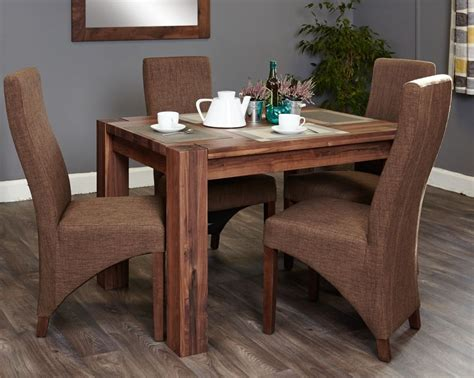 walnut dining table set buy baumhaus shiro walnut dining set with 4 hazelnut