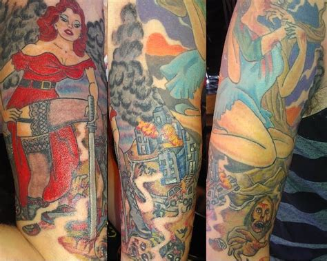 pin up girl half sleeve tattoo designs gallery for gt sleeve