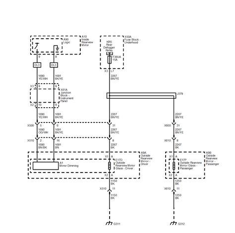 power mirror switch wiring diagram 34 wiring diagram