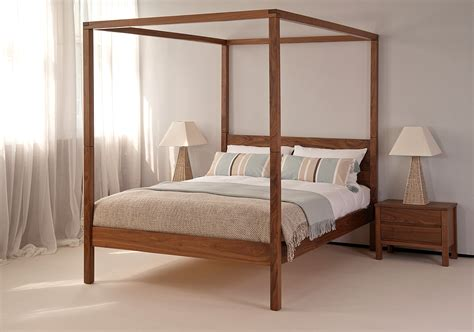 4 Post Bed | orchid four poster bed solid wood natural bed company