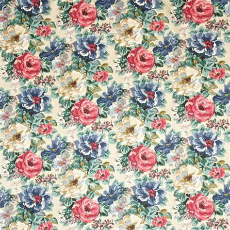 Midsummer Rose Fabric Antique Rose (DCAVMI202) Sanderson Caverley Fabrics Collection