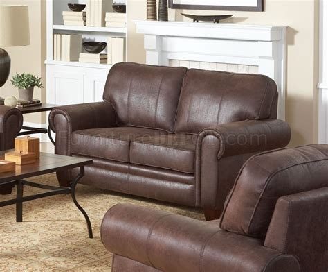 brown microfiber couch bentley sofa in brown microfiber 504201 by coaster w options