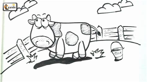 drawing images for kids art for kids how to draw a cow drawing for children