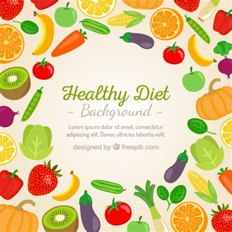 vegetables y fruits vegetables and fruits background vector free