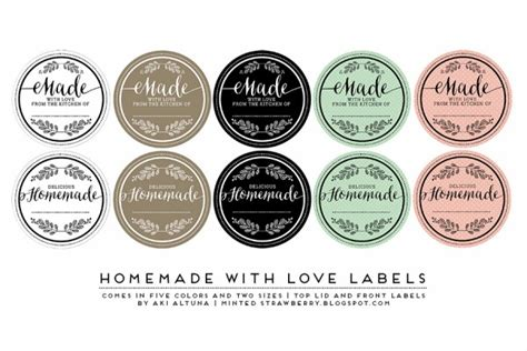 Handmade By Labels - the winners of the jar label design contest
