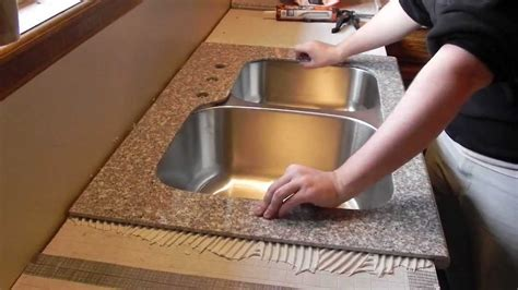 Installing Kitchen Countertops Laminate by Lazy Granite Kitchen Countertop Installation