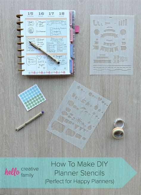 How To Make Diy Planner Folder Pockets Perfect For Happy Planners Hello Creative Family Diy Will Template