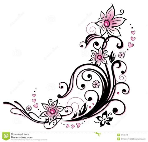 flower border tattoo tribal flower border clipart