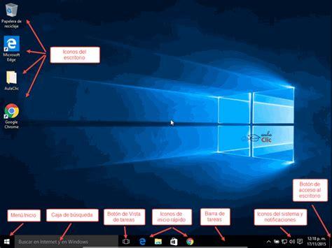 Imagenes De Windows 10 Y Sus Partes   curso gratis de windows 10 aulaclic 3 la interfaz de