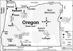 oregon map quiz printout enchantedlearning