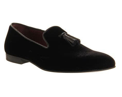 black loafers mens poste aristocrat loafers black velvet formal shoes ebay