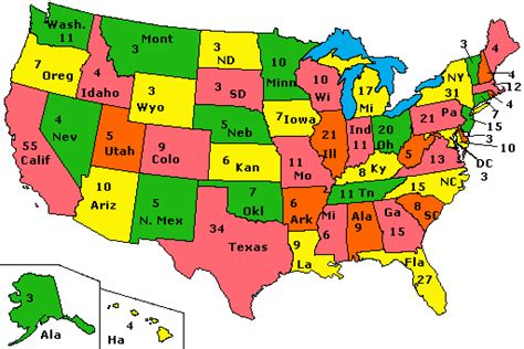 map of the united states electoral votes presidential elections