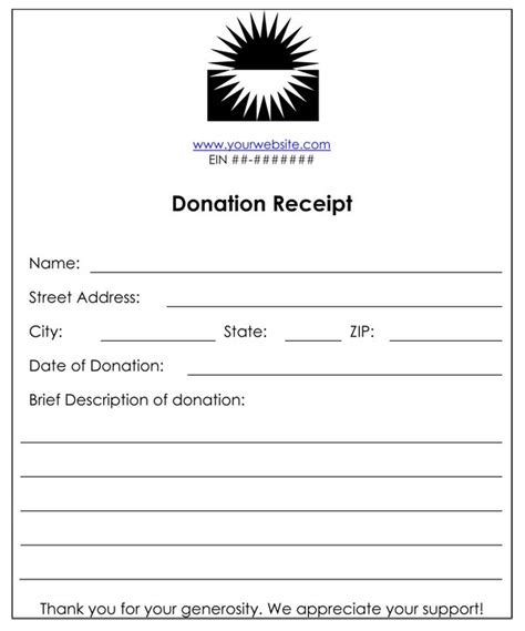 charitable donation receipt template non profit donation receipt template analysis template