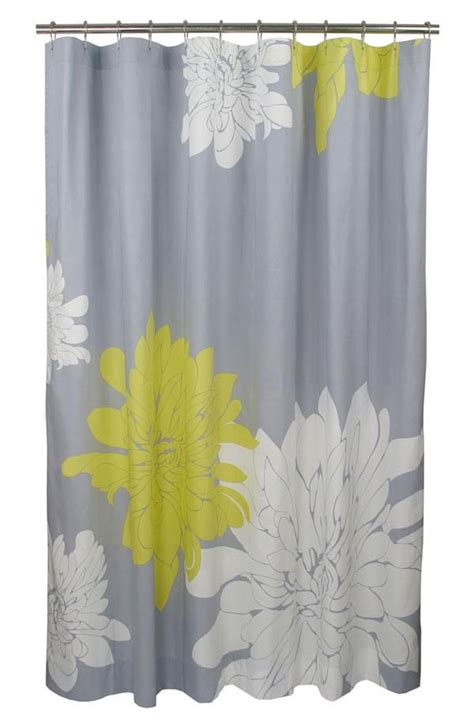 Yellow Gray Shower Curtain by Blissliving Home Citron Shower Curtain Only