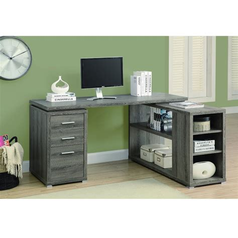 Modern Corner Office Desk L Shaped Corner Desk In Taupe Modern Office Furniture