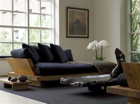 zen room decor zen living room ideas with black sofa for small space