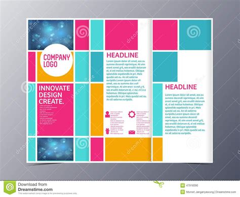 tri folded brochure templates abstract colorful brochure design template vector tri fold