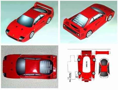 Papercraft Car Templates - free papercraft cars mini car paper model