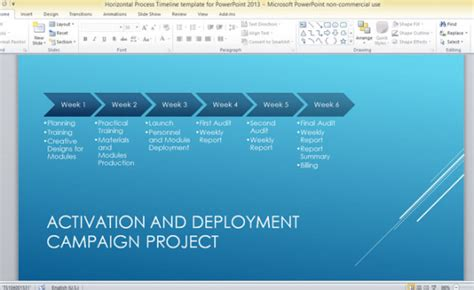 Horizontal Process Timeline Template For Powerpoint 2013 Timeline In Powerpoint 2013