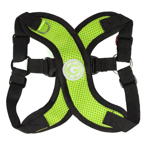 gooby harness gooby comfort x step in harness lime green at baxterboo