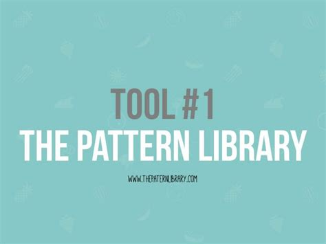 pattern library app the pattern library