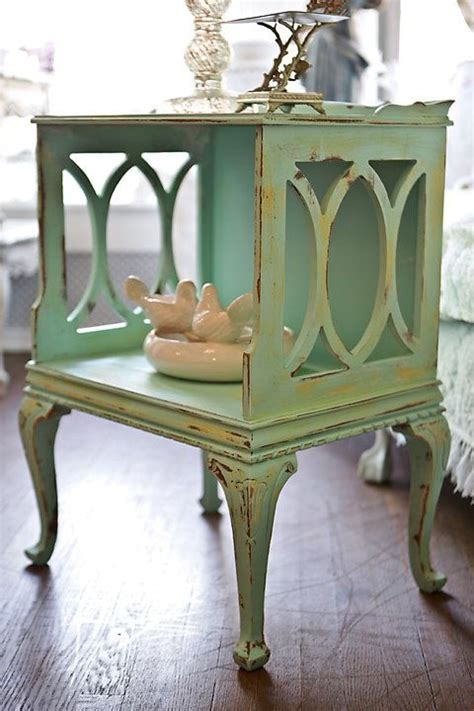 shabby chic end tables vintage shabby chic nightstand end table by