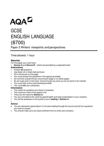 aqa year 9 english 0198368852 section a of the aqa gcse english language paper 2 writers viewpoints and perspectives by