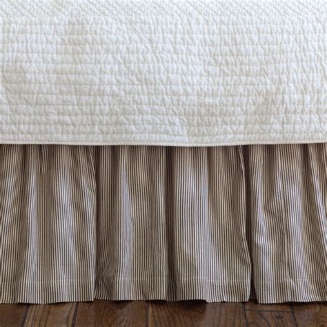 striped bed skirts farmhouse stripe twin bed skirt traditional bedskirts