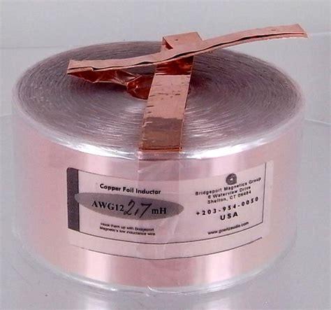 alpha foil inductors goertz cf2 7 12 awg copper foil inductor
