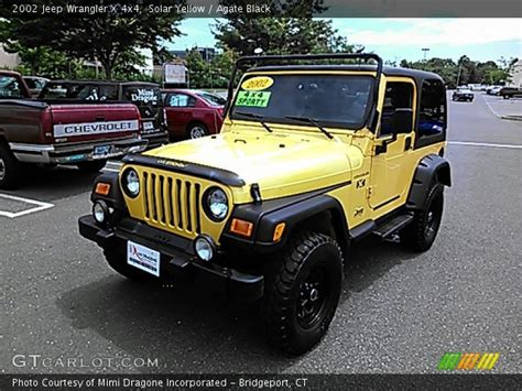 yellow jeep interior solar yellow 2002 jeep wrangler x 4x4 agate black