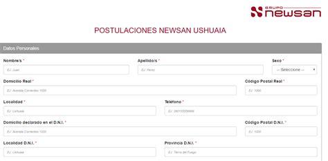 guardarropa ushuaia ushuaia grupo newsan incorporara operarios postulaci 243 n