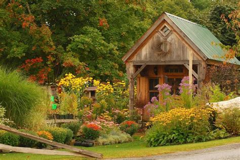 rustic garden quaint rustic garden house early autumn by bltzy pixdaus