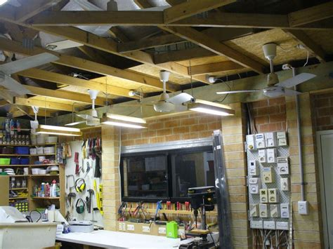 Lighting For Garage Ceiling Garage Ceiling Fans Deciding The Right Size For Your