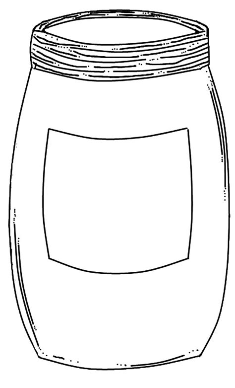 coloring page jar free coloring pages of empty jar