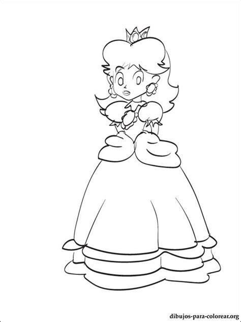 imagenes faciles para dibujar de mario dibujos para colorear de princesa daisy de mario imagui