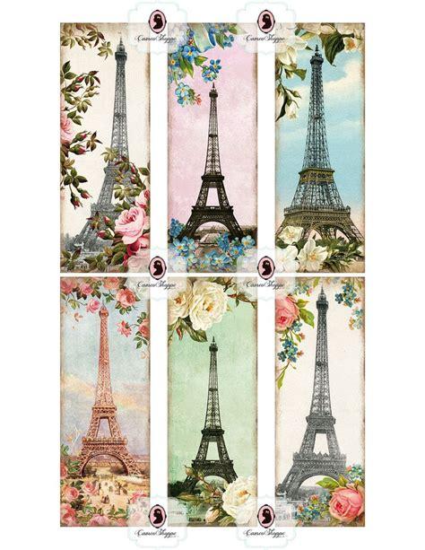 Printable Paris Bookmarks | bookmark digital collage sheet glamour paris digital