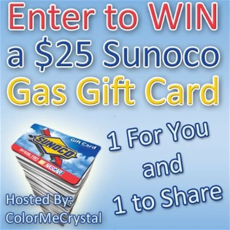 Sunoco Gas Gift Card - win a 25 sunoco gas gift card for you and a friend