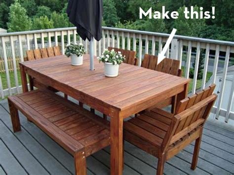 woodwork simple outdoor dining table plans  plans