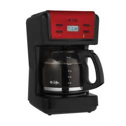 Mr. Coffee® Advanced Brew 12 Cup Programmable Coffee Maker, Black/Red, BVMC KNX26 BVMC KNX26