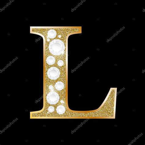 l at letter l gold imgkid com the image kid has it